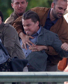 Leonardo DiCaprio Film-Set Inception