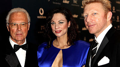 Boris Becker Lilly Becker Laureus Award