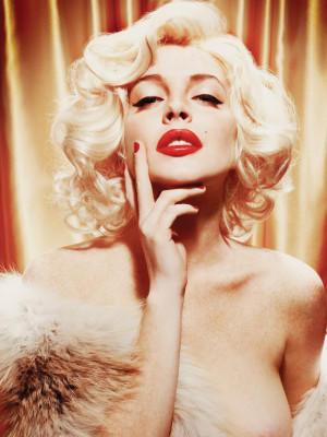 Lindsay Lohan posiert nackt Marilyn