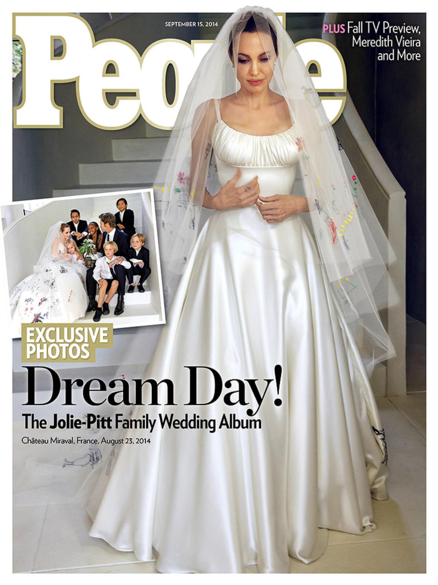 Angelina Jolie als Braut: So hübsch sah sie in ihrem Hochzeitskleid ...