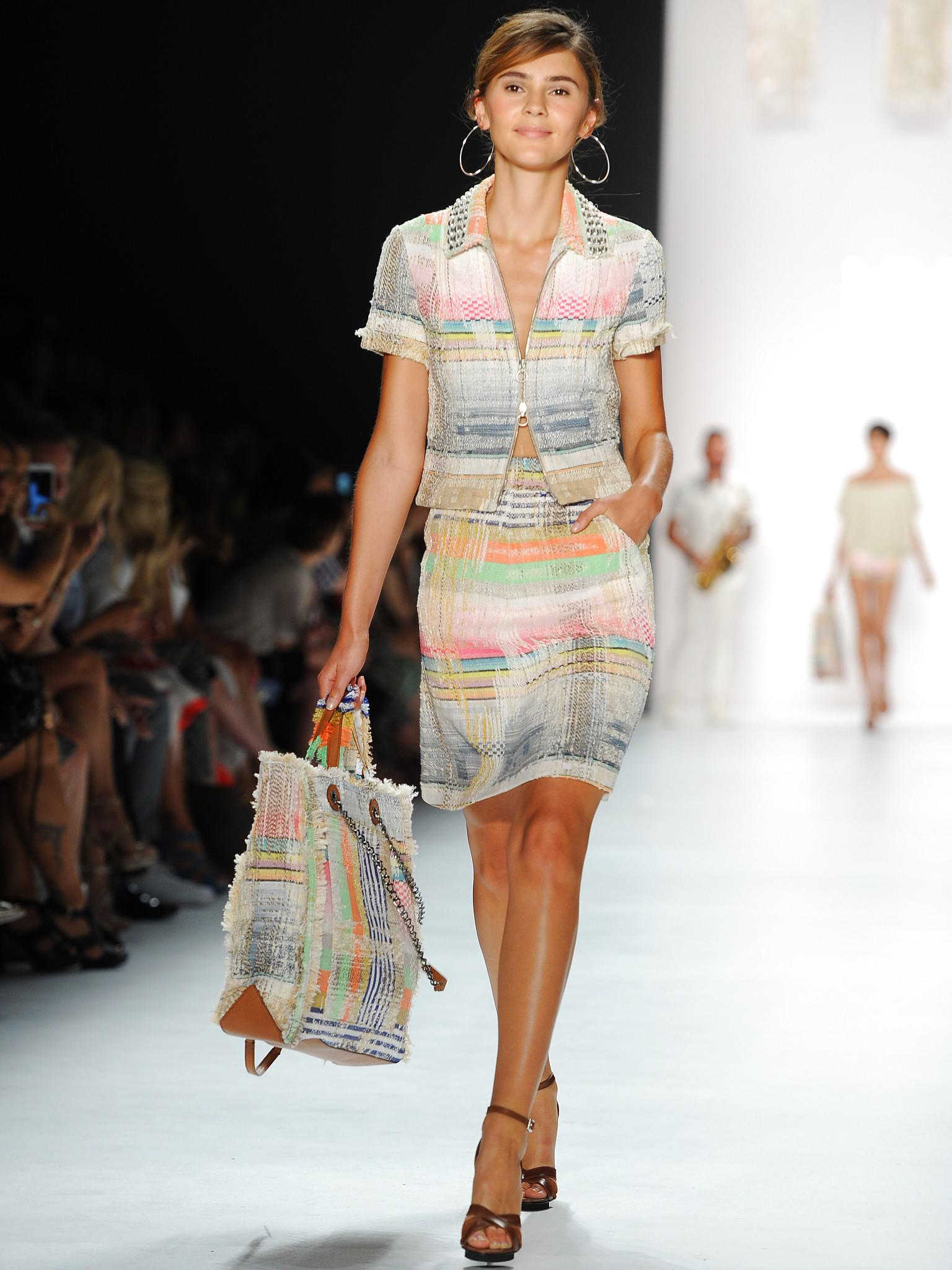 Germany's next Topmodel Kandidaten bei Fashion Week in Berlin 2015