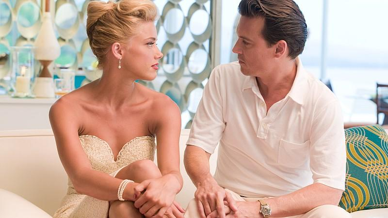 Amber Heard und Johnny Depp in 'The Rum Diary'
