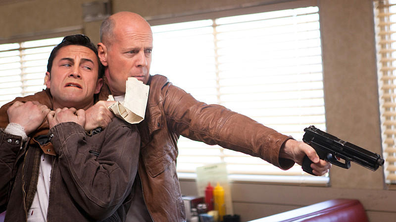 Joseph Gordon-Levitt und Bruce Willis in 'Looper'