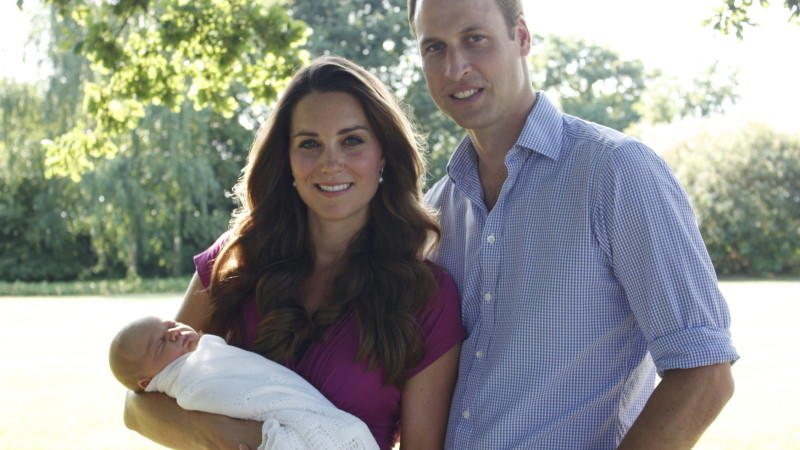 William und Catherine Baby George Taufe
