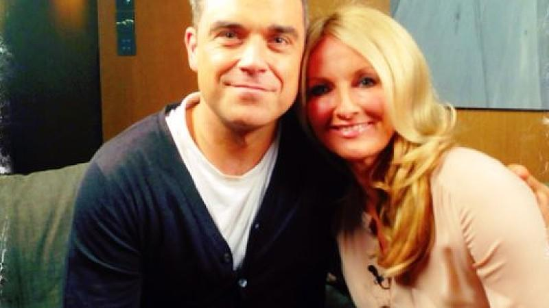 Robbie Williams und Frauke Ludowig