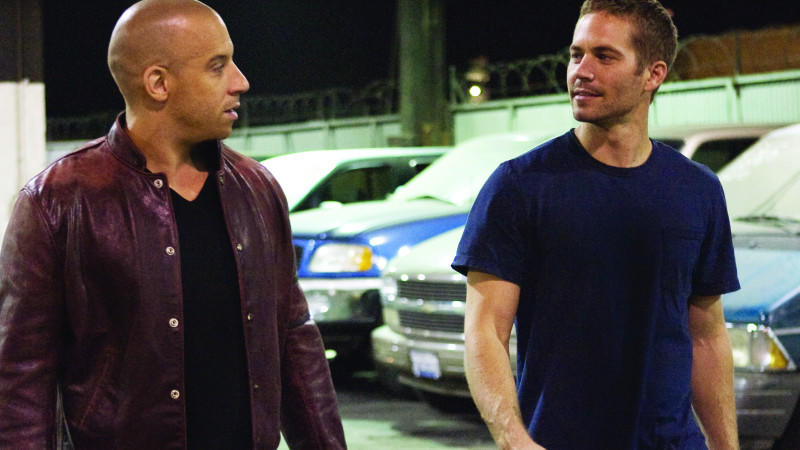 Vin Diesel und Paul Walker in 'The Fast and the Furious'.