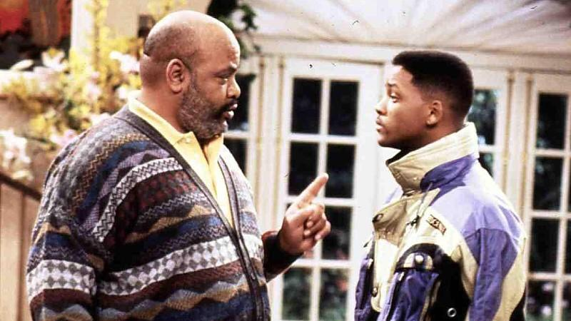 James Avery mit seinen Serien-Neffen Will Smith