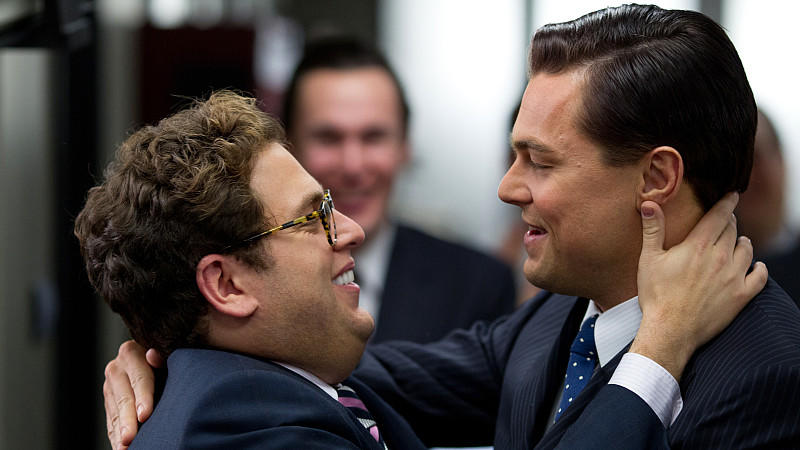 Jonah Hill und Leonardo DiCaprio in 'The Wolf of Wall Street'