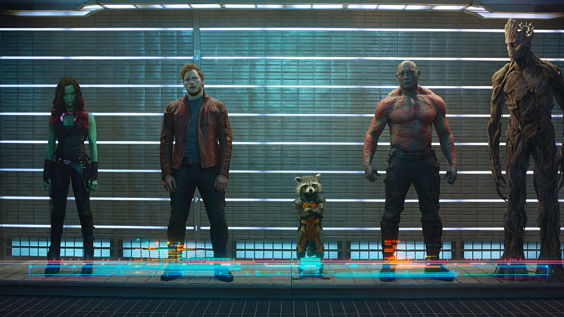 'Guardians of the Galaxy' mit Chris Pratt und Zoe Saldana