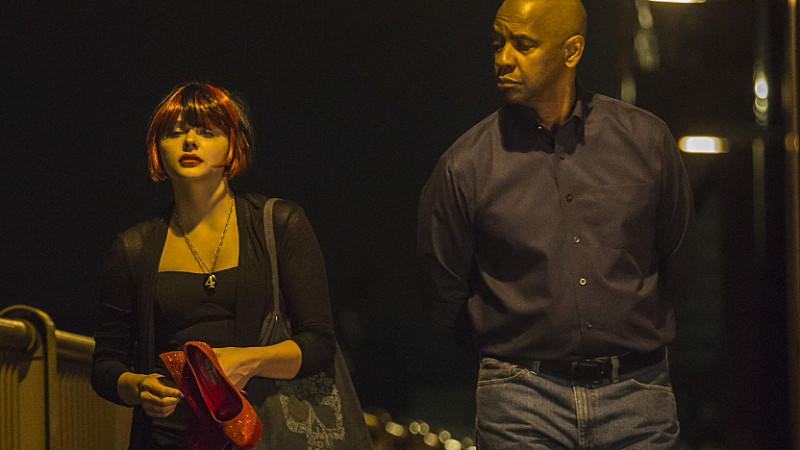 Chloë Grace Moretz und Denzel Washington in 'The Equalizer'