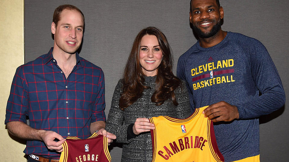 William und Catherine treffen LeBron James