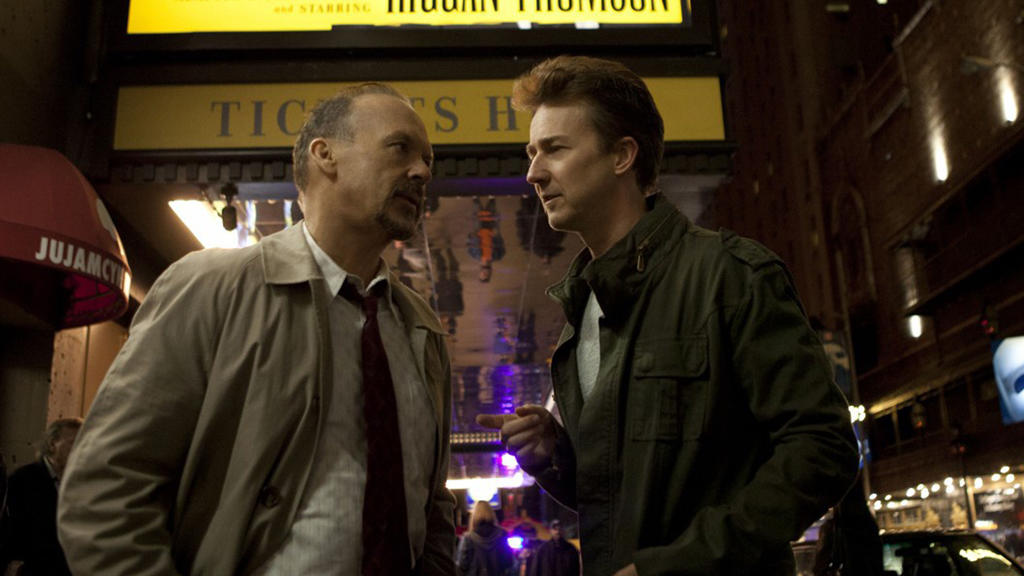 Michael Keaton und Edward Norton