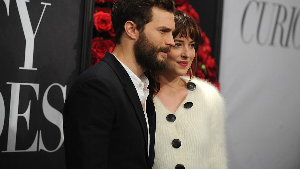 Dakota Johnson und Jamie Dornan bei einem Fan-Screenin in New York-