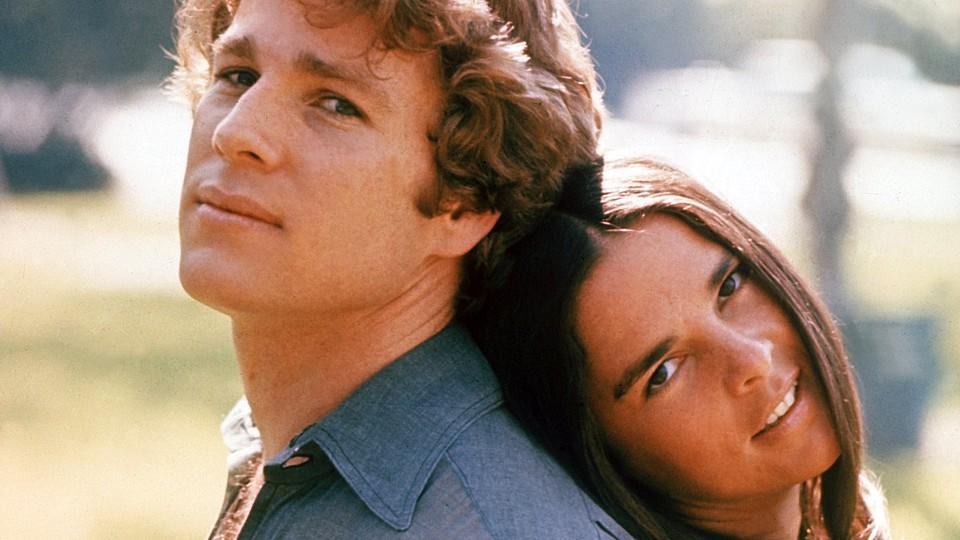 Ryan O'Neal und Ali MacGraw in 'Love Story'