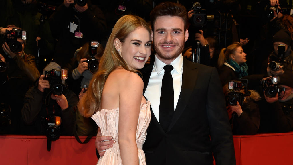 Richard Madden mit Lily James