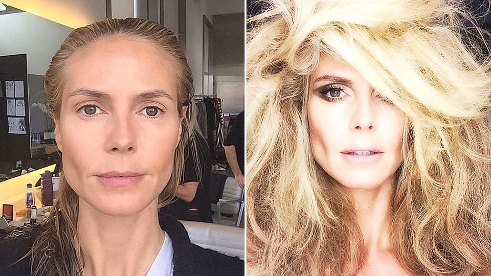 Heidi klum ohne make up vorher nachher fotos sorgen f r aufsehen - Mobel vorher nachher ...