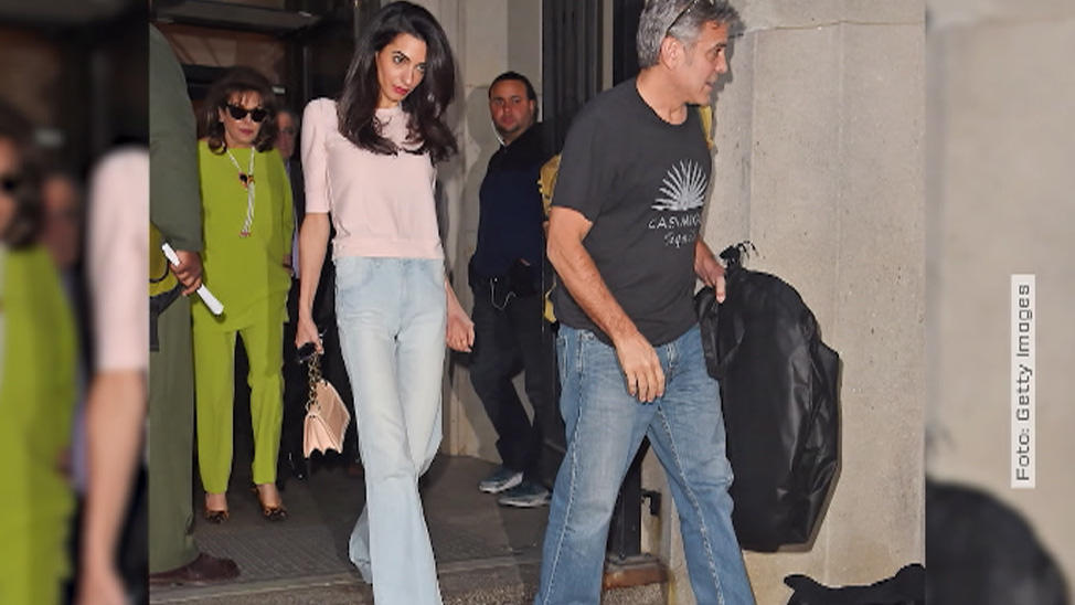 George und Amal Clooney in New York