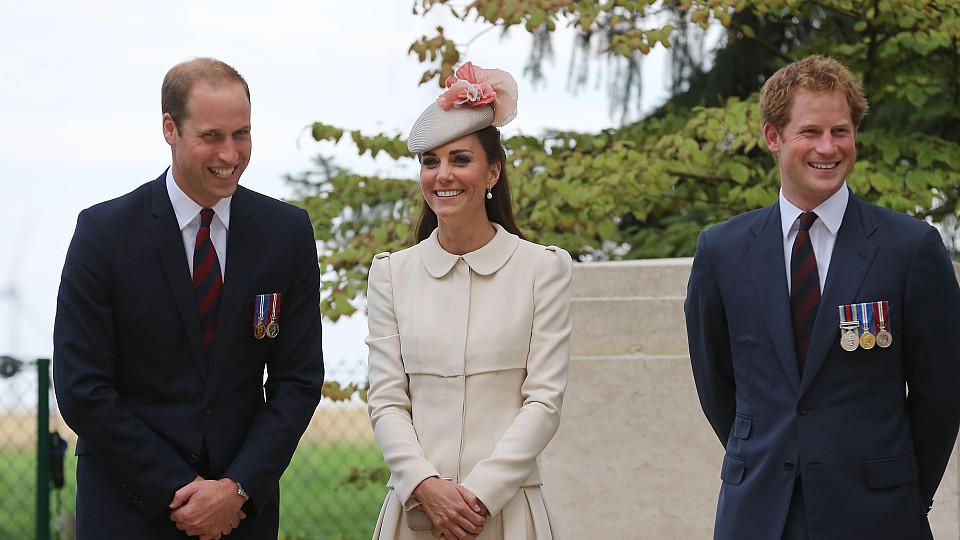 William, Catherine und Harry