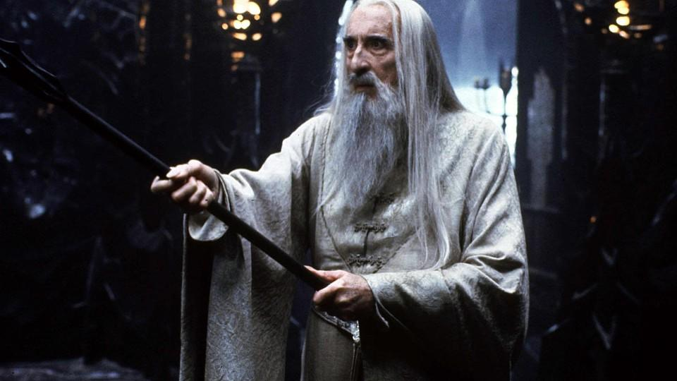 Christopher Lee in 'Der Herr der Ringe'.