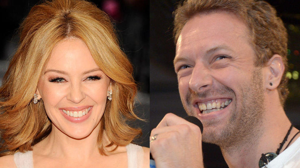 Chris Martin und Kylie Minogue Arm in Arm in London