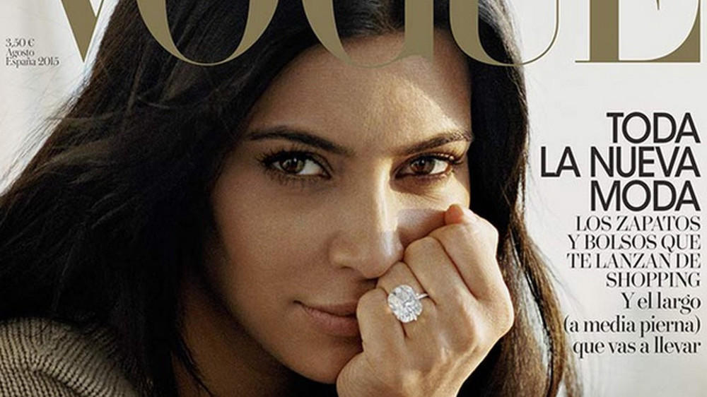 "Kim Kardashian ohne Make-up auf dem ""Vogue""-Cover"