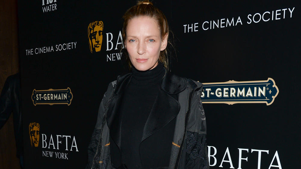 Uma Thurman: Ungestylt zur Cocktail-Party