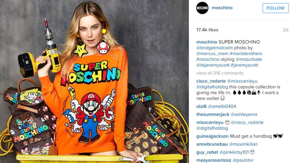 "It's a me, ""Super Moschino""!"