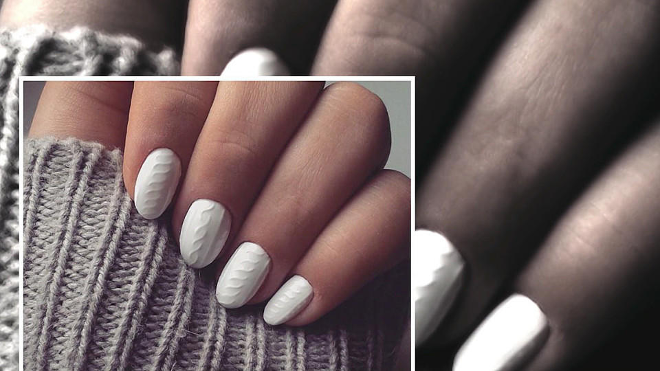 naildesign trend 39 knit nails 39 fingern gel wie gestrickt. Black Bedroom Furniture Sets. Home Design Ideas