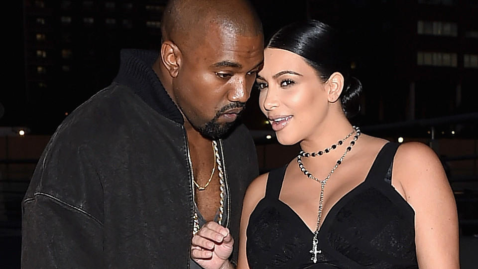 Kim Kardashian und Kanye West bei der NY-Fashion Week 2015