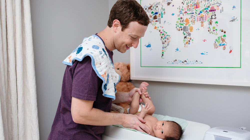 Mark Zuckerberg ist Priscillas Windel-Held