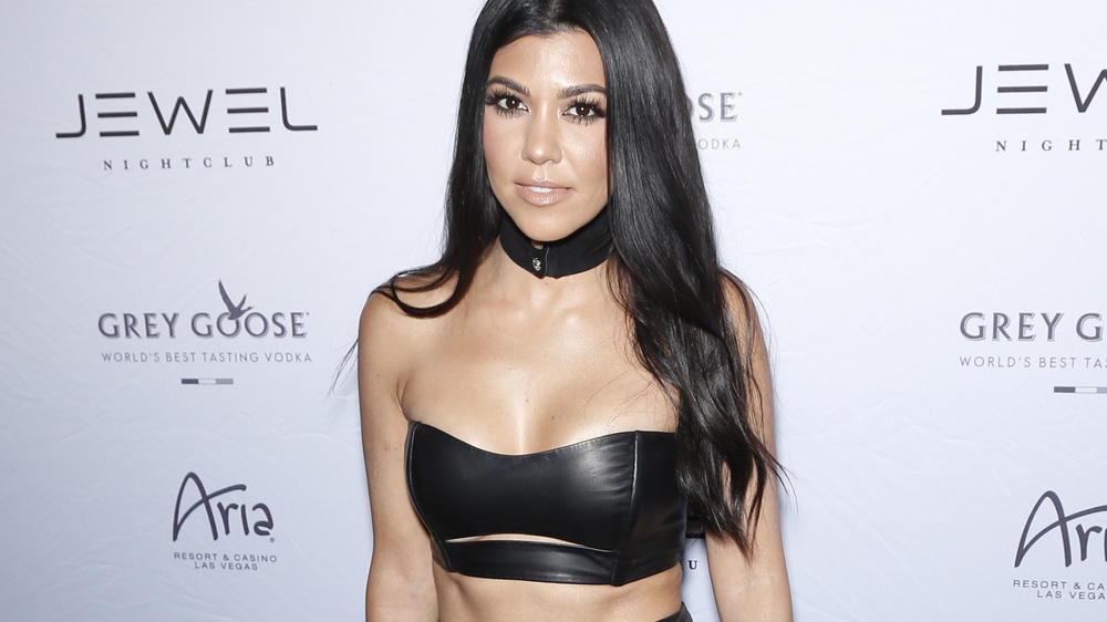 Kourtney Kardashian im Domina-Look
