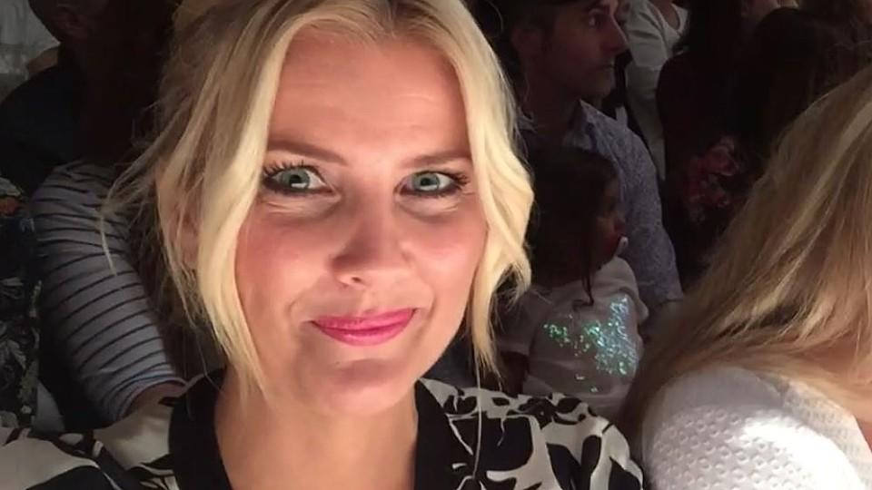 RTL-Moderatorin Jennifer Knäble auf der Berlin Fashion Week 2016