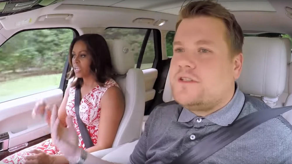 Carpool Karaoke: Michelle Obama rockt das Auto mit James Corden