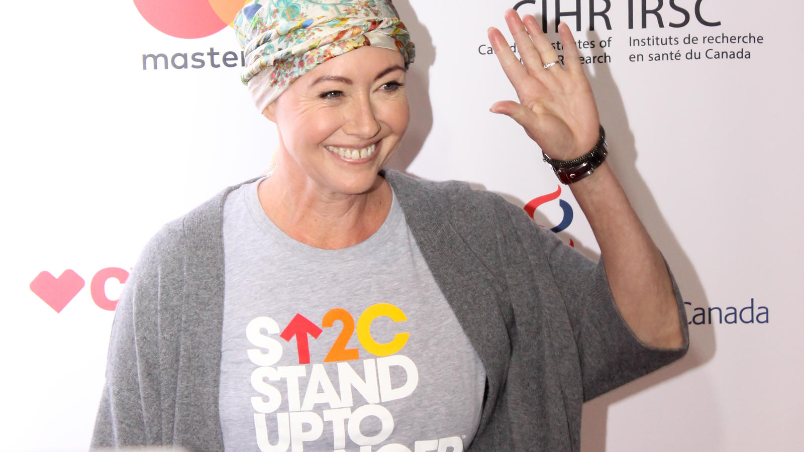 Shannen Doherty attends 5th Biennial Stand Up To Cancer (SU2C), A Program of The Entertainment Industry Foundation (EIF) at Walt Disney Concert Hall in Los Angeles, California.