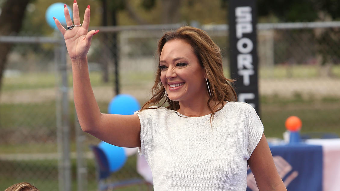 LONG BEACH, CA - SEPTEMBER 21:  Actress Leah Remini attends the Life is Good supports Dream Court opening BGCLB event on September 21, 2015 in Long Beach, California.  (Photo by Jesse Grant/Getty Images for Life is Good)
