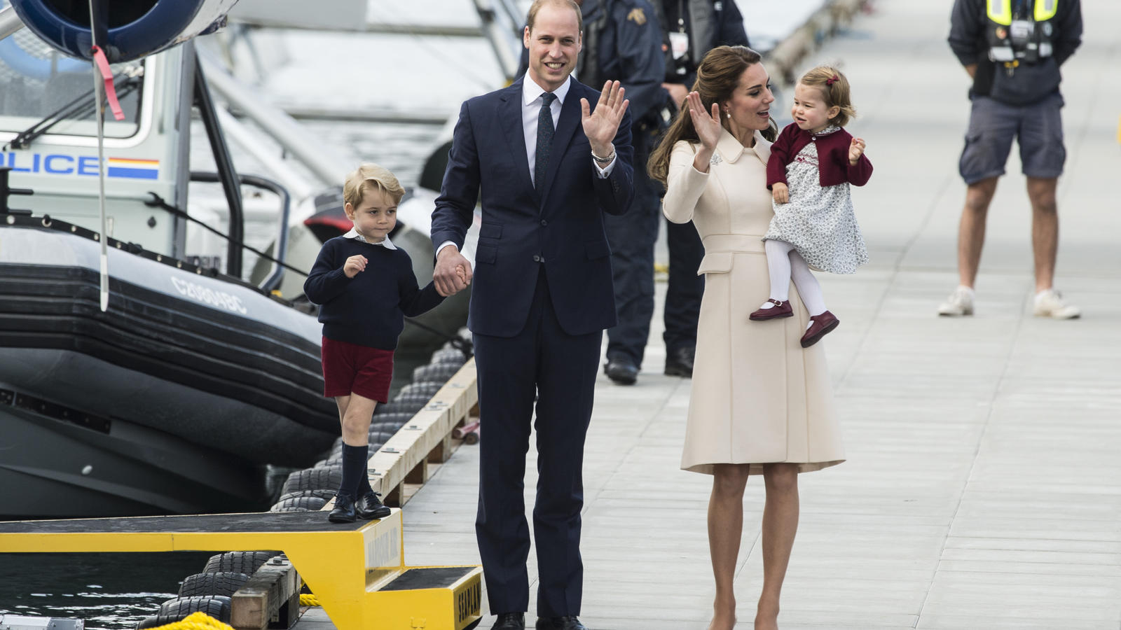 The Duchess of Cambridge, Princess Charlotte, Prince George and the Duke of Cambridge end their Canadian Royal Tour with an official farewell at Victoria Harbour AirportFeaturing: Prince George, Duke of Cambridge, Duchess of Cambridge, Princess Charl