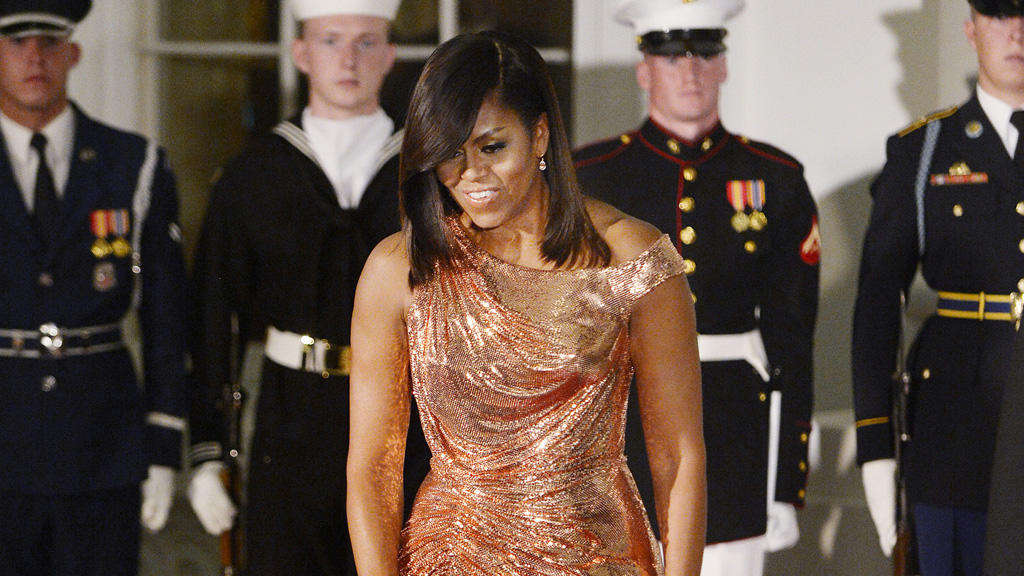 Michelle Obama: Ein Traum in Gold