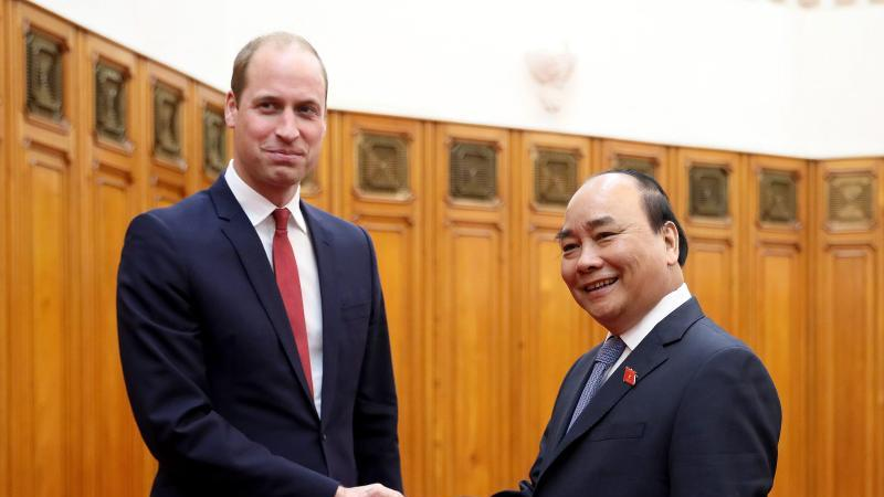 Prinz William in  Hanoi