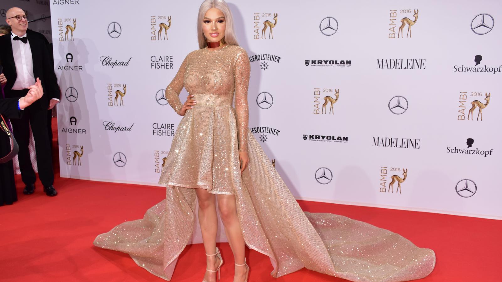 Bambi 2016 Shirin David sorgt in Jennifer Lopez Kleid