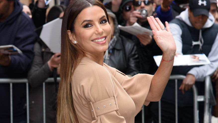 "Eva Longoria is all smiles whilst exiting ""The View"" television show in NYCABC Studio, NY"