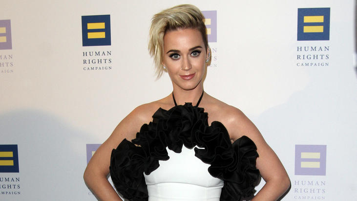 Singer Katy Perry attends the Human Rights Campaign 2017 Los Angeles Gala Dinner held at the JW Marriott LA Live in Los Angeles, California.