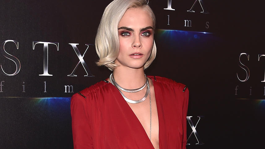 Cara Delevigne at the CinemaCon 2017 STX Red Carpet at the Colosseum at Caesars Palace on March 28, 2017 in Las Vegas, Nevada.