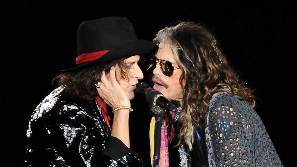 Die Band Aerosmith rockt München