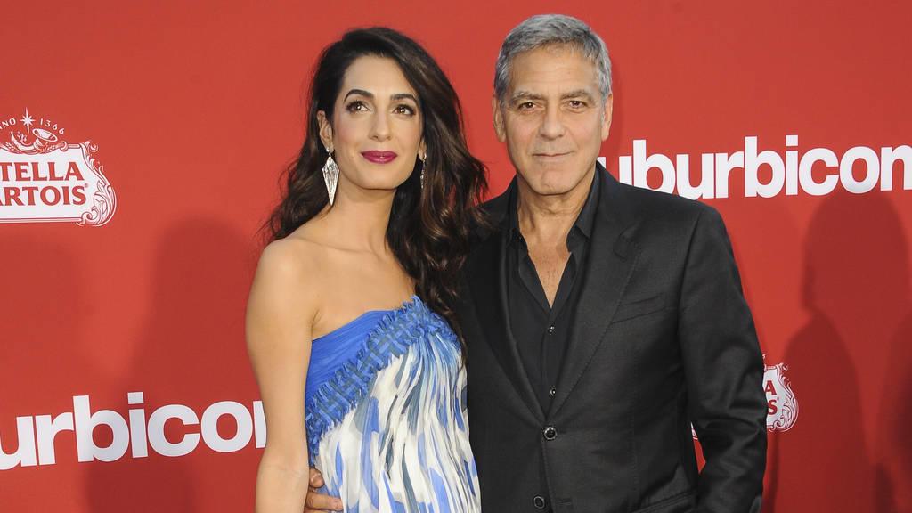 Auch seine Frau Amal wurde sexuell belästigt