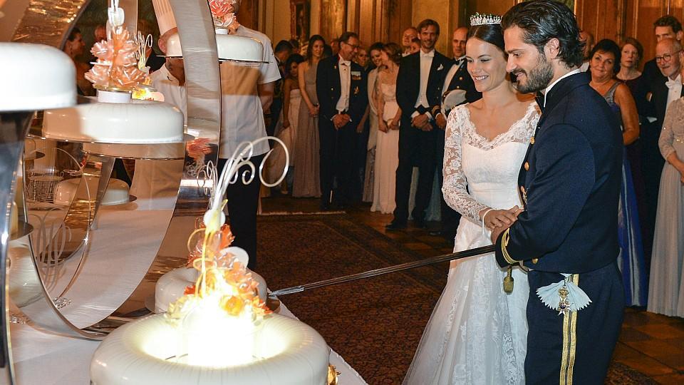 ... und Sofia Hellqvist ließen es auf der Party nach der Hochzeit krachen