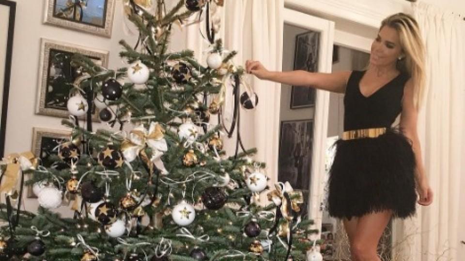 die weihnachtsb ume der stars so feiern die promis das. Black Bedroom Furniture Sets. Home Design Ideas